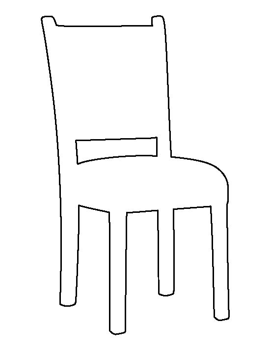 Chair pattern. Use the printable outline for crafts