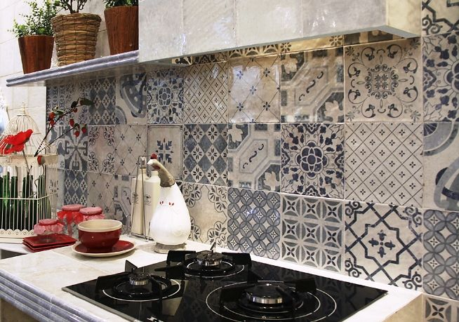 Spanish Pattern Artisan Wall Tiles A Mix of 14 different prints in this range of wall tiles for