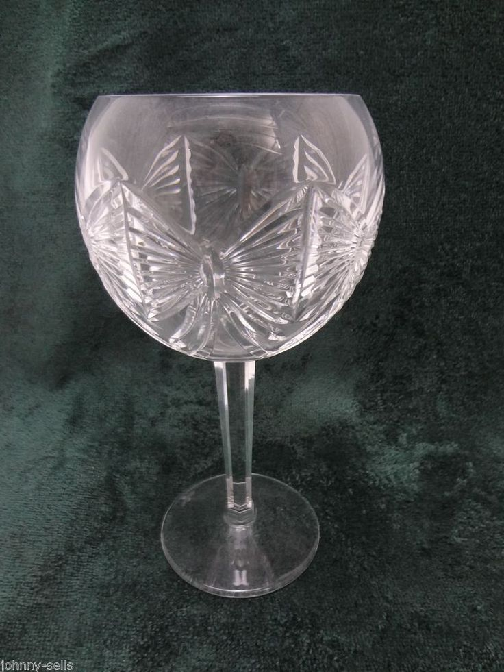 Waterford Crystal Millennium Balloon Wine Glass Goblet 8 Happiness Signed Waterford