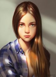 girl - cute digital portrait