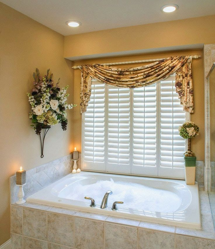 Top 49 ideas about Bathroom curtains on Pinterest  Voile