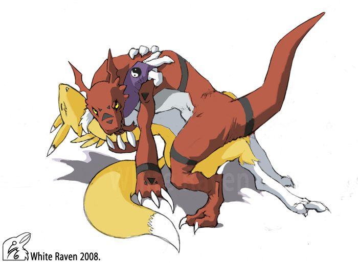Renamon And Guilmon By WhiteRaven90 Digimon Pinterest