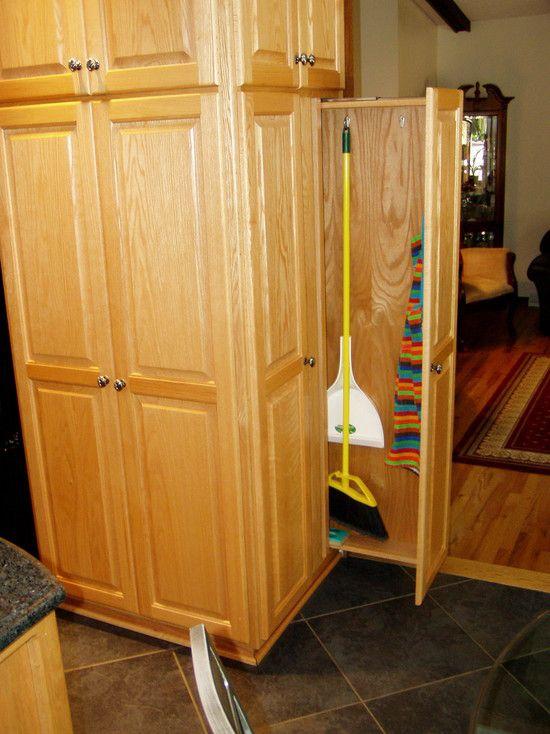informal broom closet slide out  Home Decor