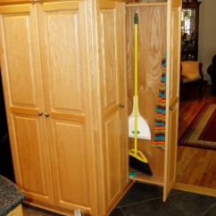 Slide Out Organizers Kitchen Cabinets Design Photos For Small Kitchens Informal Broom Closet | Home Decor