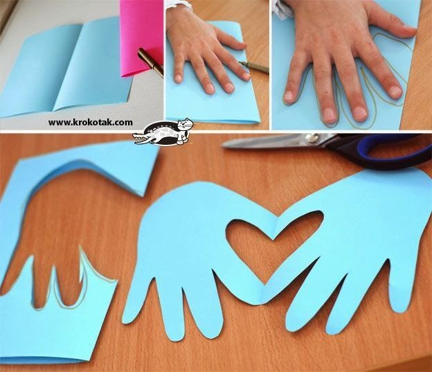 hand & heart card. Great for thank