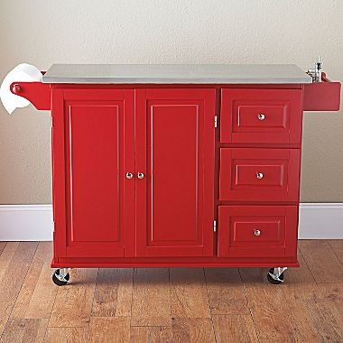 Sundance Kitchen Cart Stainless Steel Top  jcpenney