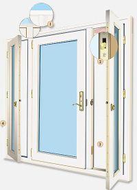 Vented Sidelight Patio Doors Design Features - Neuma Doors ...
