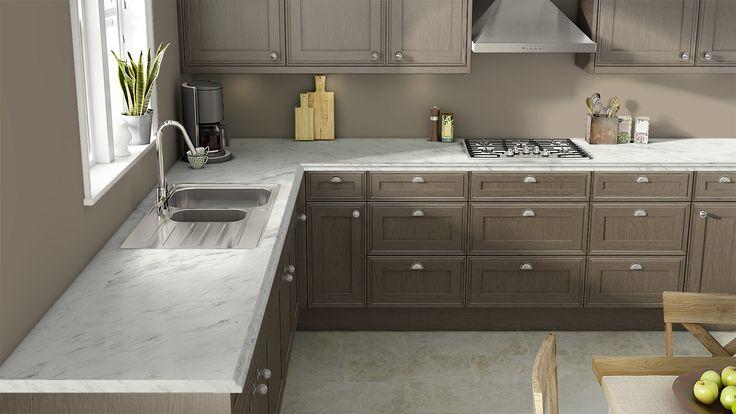 Wilsonarts visualizer Calcutta marble laminate with gray