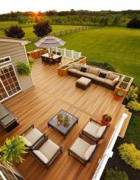 Beautiful Deck - I like the composite wood color, railing ...