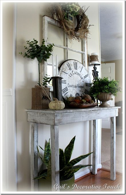 Rustic Window and Pottery Barn Knockoff Clock