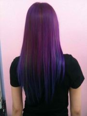 cute purple and blue ombr hair