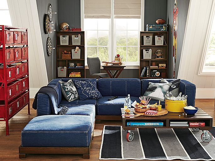 denim sectional sofa slipcovers signature design by ashley reviews pottery barn best 25 ideas only on ...