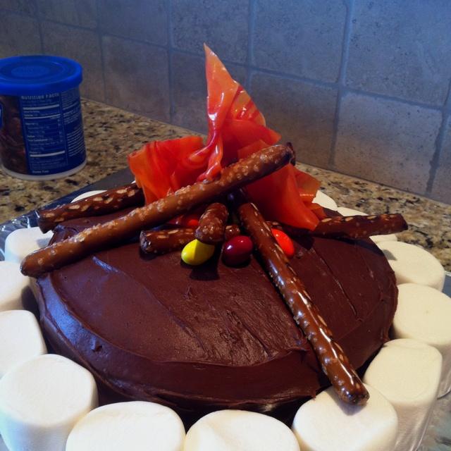 Campfire Cake For Boy Scout Blue Amp Gold Banquet Boy