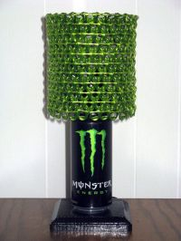 Monster Energy Can Lamp With Bright Metallic Green ...