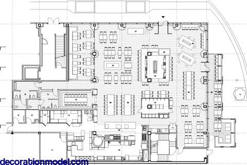 Furniture layout, Cafeterias and Layout on Pinterest