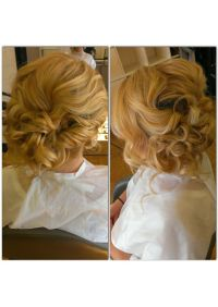 Bridal hair, wedding hair, side swept, side bun, messy ...