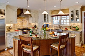Angled Island For The Home Pinterest Kitchens With