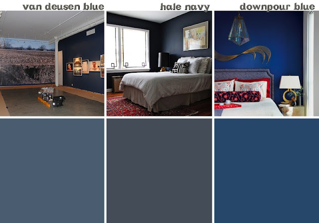 DOWNPOUR BLUE _ I love it Great dining room color