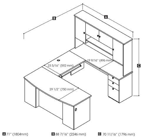 25+ best ideas about Desk dimensions on Pinterest