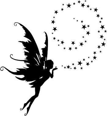 * Fairy Silhouettes, Vectors, Clipart, Svg, Templates