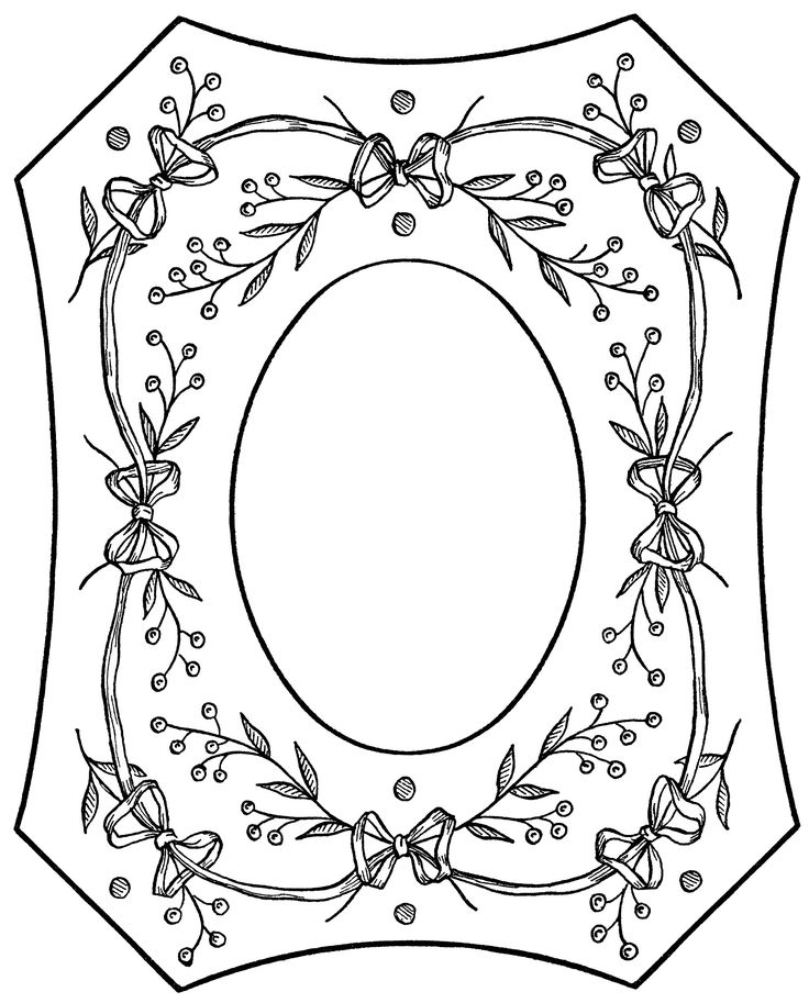 vintage embroidery pattern, Victorian clip art frame