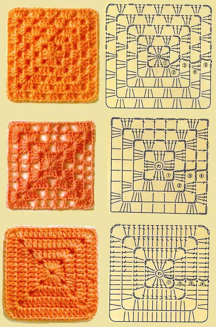 free crochet square pattern diagram 2001 vw jetta 2 0 engine best 25+ squares ideas on pinterest