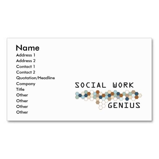 1000+ images about Social Worker Business Cards on
