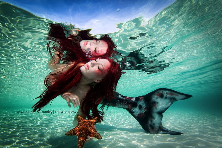 Mythical Creatures In The Fall Wallpaper Black And White Mermaid With Red Hair Just Below The
