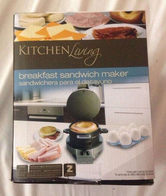Kitchen Living Breakfast Egg Sandwich Maker  Heated