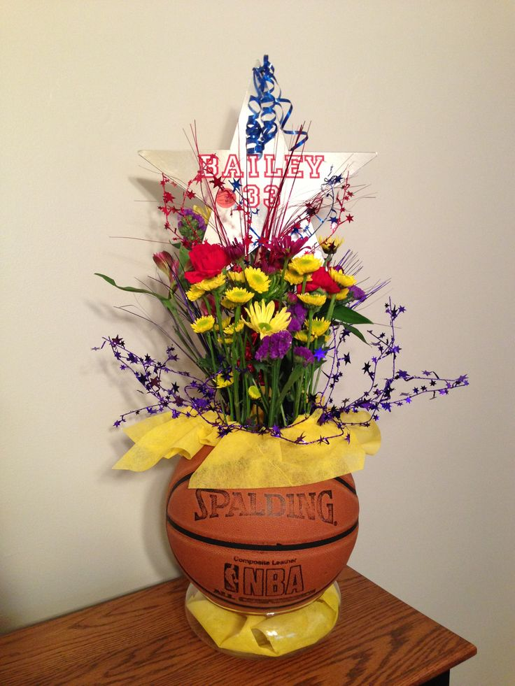 Table decorations and senior gifts  Basketball banquet