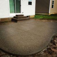 Exposed aggregate decorative concrete patio. www ...
