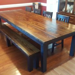 Farmhouse Table And Chairs With Bench Bassett Inspired Office Chair 253 Best Images About Dark Walnut Stain On Pinterest | Traditional, Steel Satin