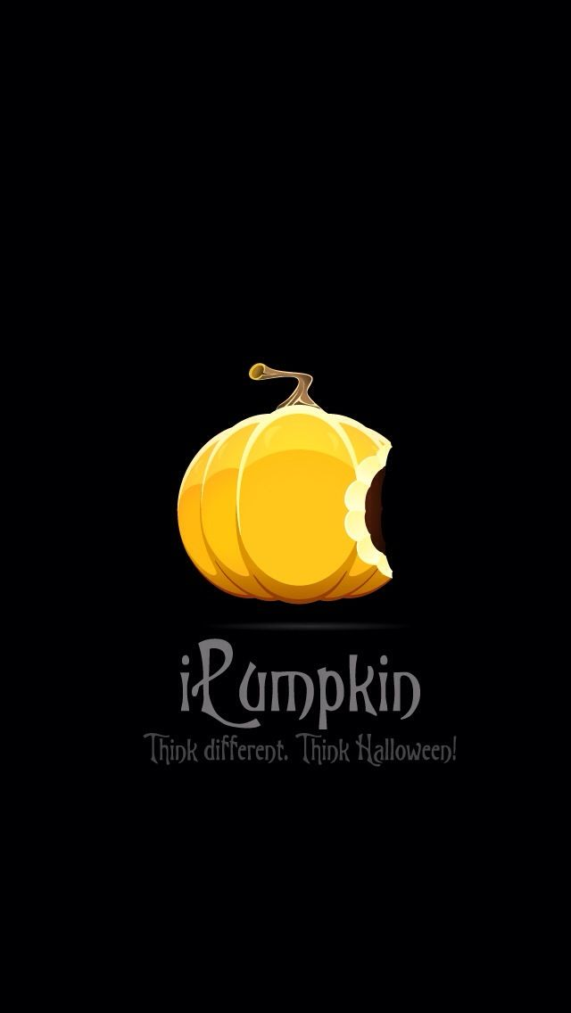Fall Pumpkin Iphone Wallpapers I Pumpkin Think Different Apple Halloween Wallpaper From