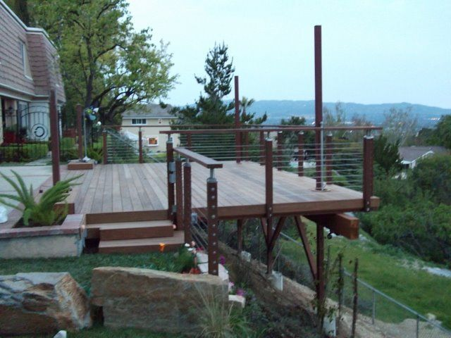 25 Best Ideas About Hillside Deck On Pinterest Sloped Backyard