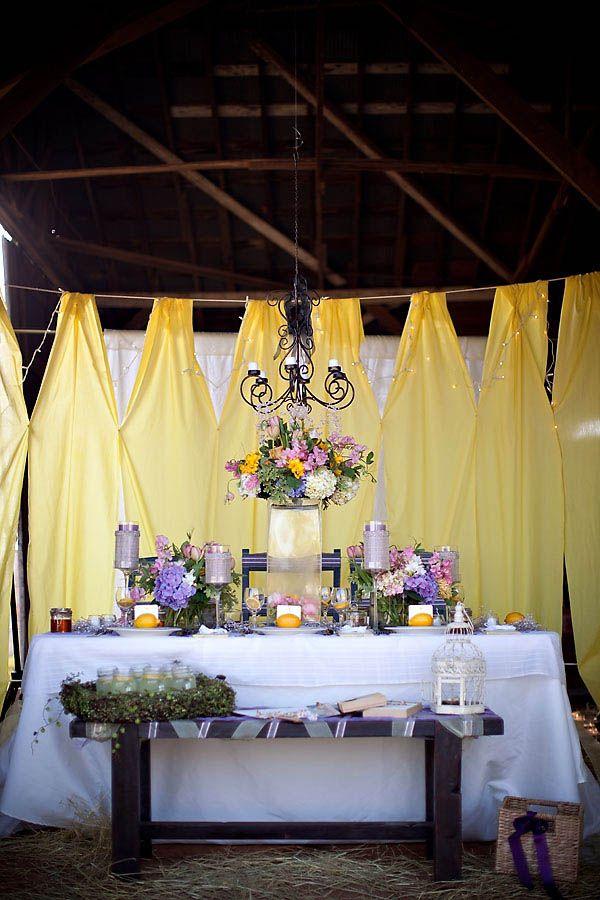 Yellow and Purple Barn Wedding Ideas  Wedding Blog and Spring