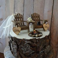 Adirondack Chair Cake Topper Transport Country Wedding Camping Hunting Fishing Themed Campfire Bonfire Rustic ...