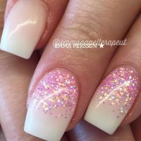 Off White with Reverse Glitter Fade | Nails | Pinterest ...