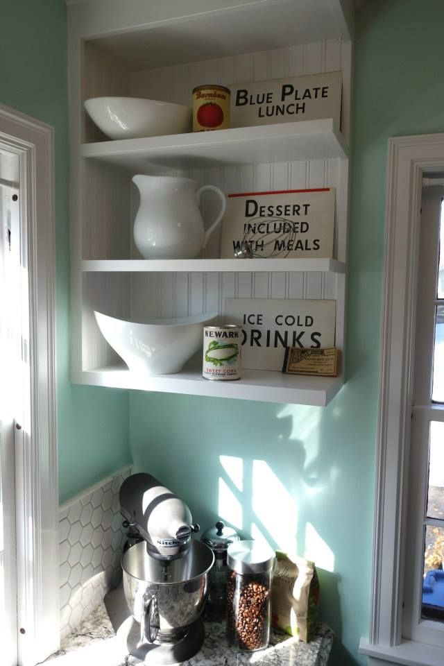 1940s kitchen Sherwin Williams Breaktime Cambria