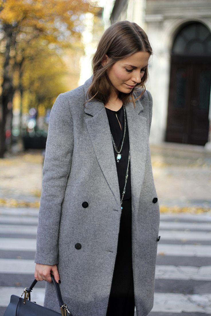 Lovely grey coat  grey  Pinterest  Coats Grey and Grey