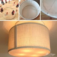 DIY Drum Shade tutorial...amazing idea for transforming a ...
