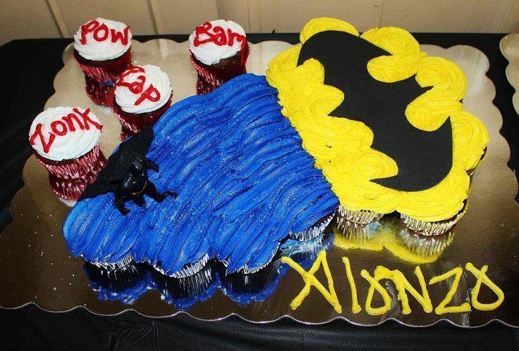 Batman Cupcakes Decorated Cakes Pinterest Batman