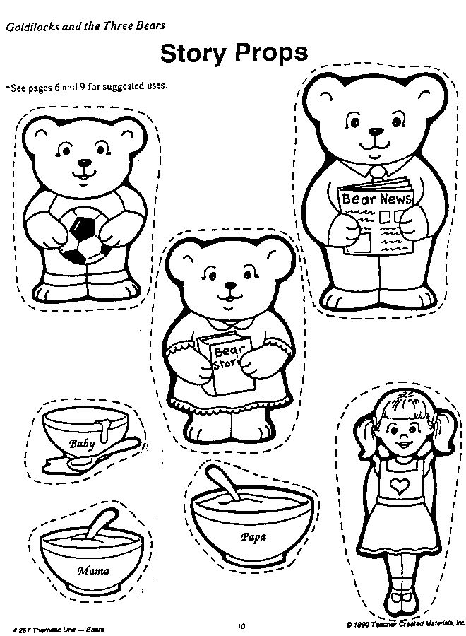 17 Best images about Goldilocks and the 3 Bears on