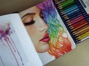 colored hair drawings