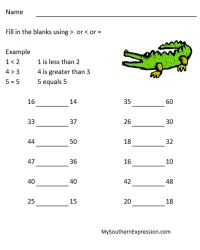 2nd Grade Math Worksheets Greater Than Less Than Equal to ...