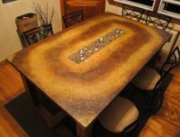 Concrete Dining Table...With Fire | Landscapes, Stained ...