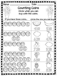25+ best ideas about Counting Money Worksheets on ...