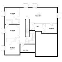 California Collection 1550 Contemporary - Basement Floor ...