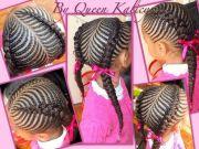 pretty cornrow style african american