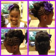 natural hairstyle little black