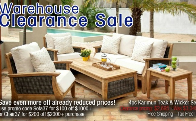 Max Furniture Warehouse Clearance Sale 4pc Karimun Outdoor